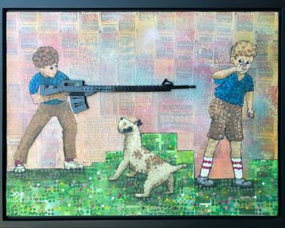 not_in_our_town_legogun_lego_art_bazookagum_painting_pixelstud