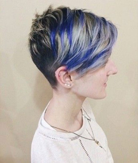 30 Blue Pixie Hairstyles For Thick Hair Hairstyles Ideas Walk