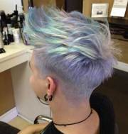 short funky pixie hairstyle