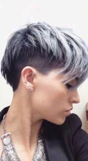 pixie haircut gray hair