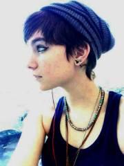 dark hair pixie cut