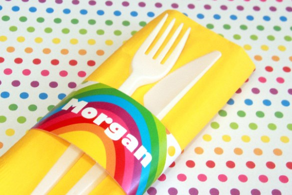 Rainbow Party Decorations by Pixiebear Party Printables