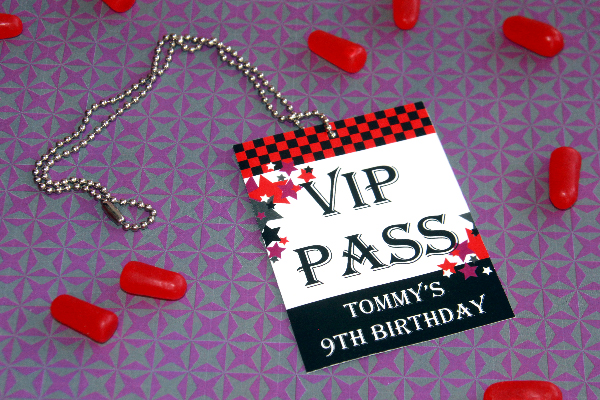 Rock Star Party VIP Pass by Pixiebear Party Printables