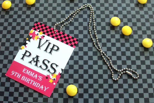 Rock Star Birthday Party VIP Pass by Pixiebear Party Printables