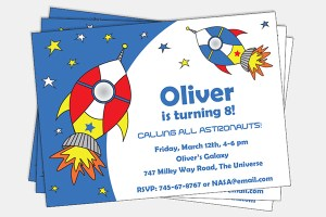 Space Party Invitation by Pixiebear Party Printables
