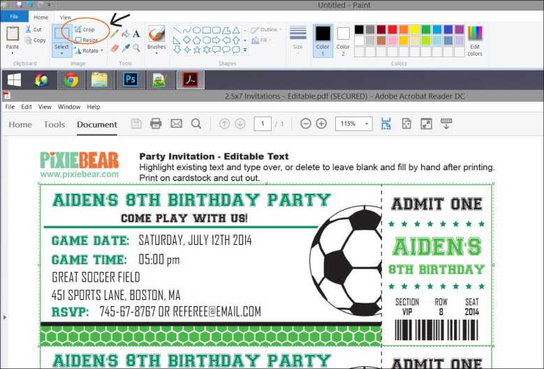 Send your printable birthday party invitations by email