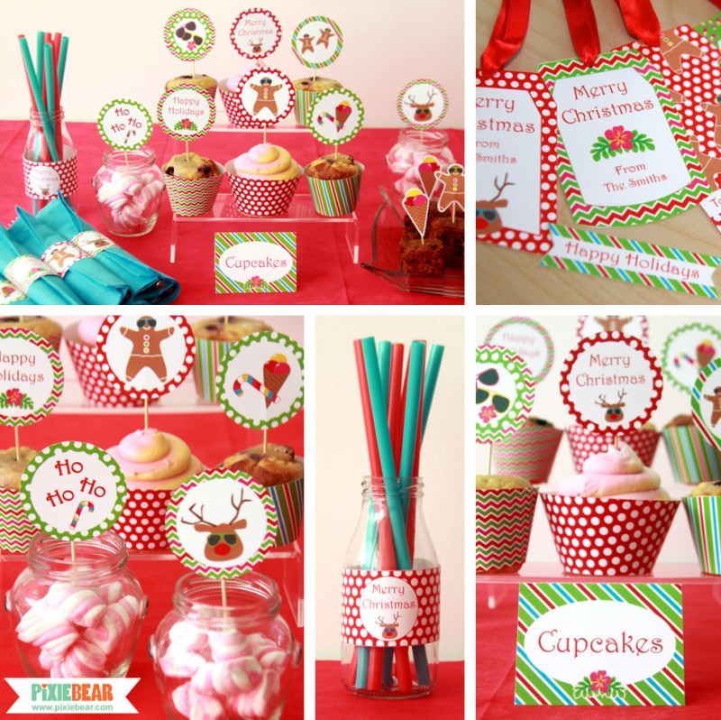 Christmas In July Ideas.Christmas In July Party Ideas Pixiebear Party Printables