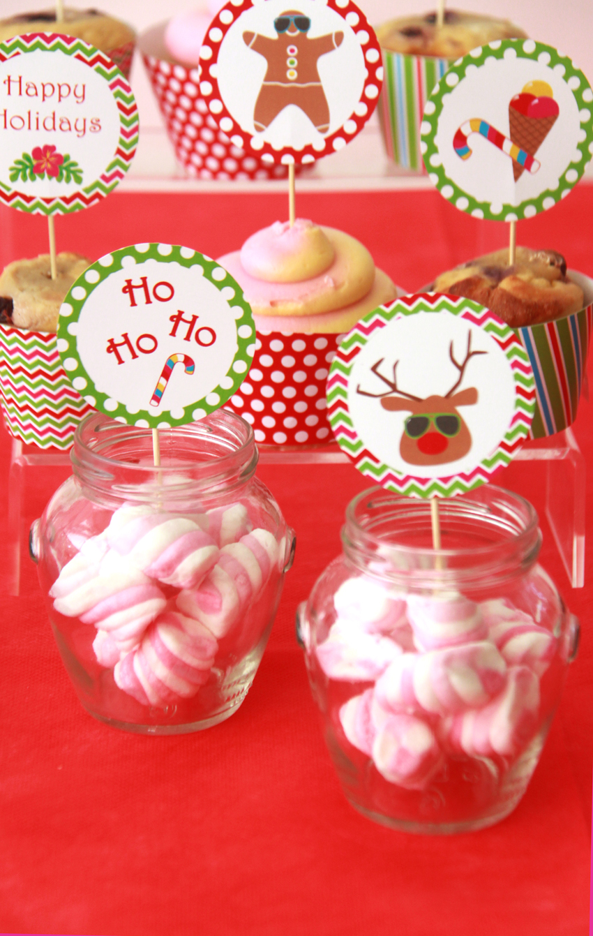 Christmas in july party ideas pixiebear party printables for Christmas in july party ideas