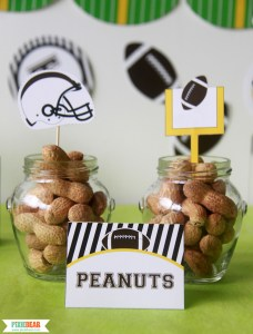 Football Party Printables by Pixiebear Party Printables