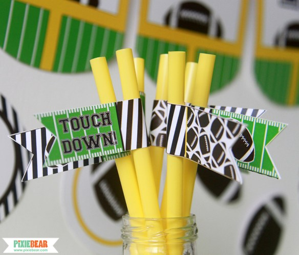 Football Party Decor Ideas by Pixiebear Party Printables