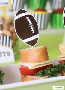 Football Party Mini Sandwiches by Pixiebear Party Printbales