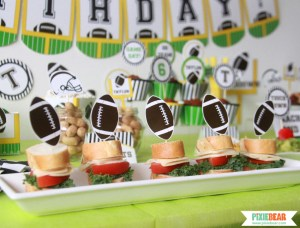 Football Party Food Ideas by Pixiebear Party Printables