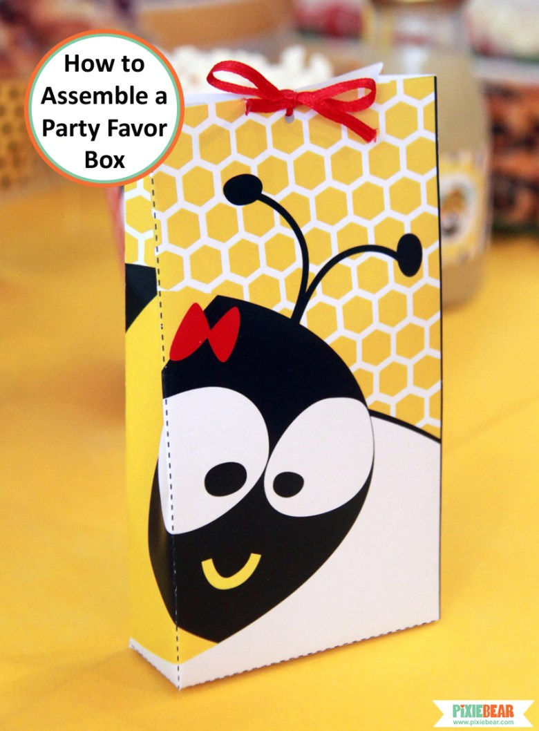 Bumble Bee Party Favor Boxes by Pixiebear Party Printables