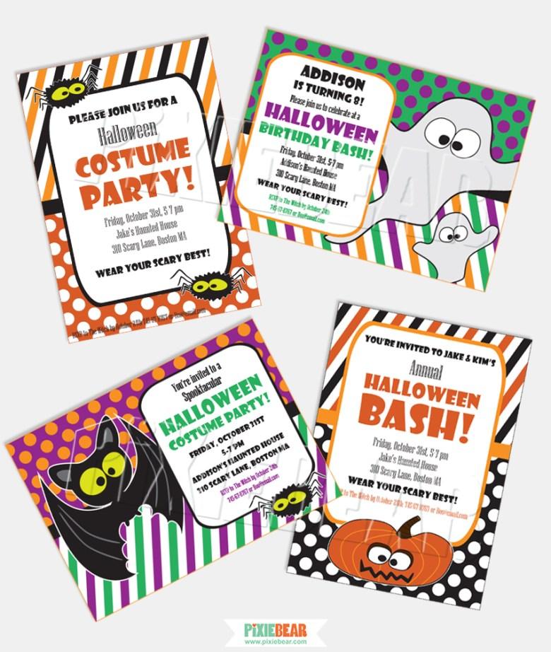 Halloween Birthday Invitations by Pixiebear
