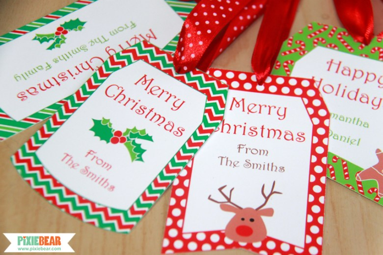 Christmas Holiday Labels by Pixiebear Party Printables