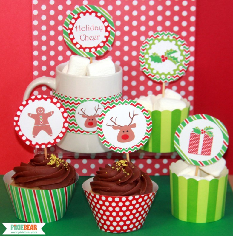 Christmas Party Printables by Pixiebear