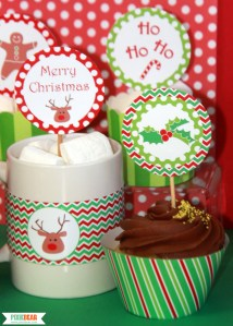 Christmas Party Decorations by Pixiebear Party Printables