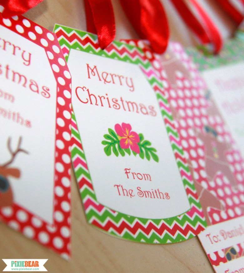 Summer Christmas Holiday Labels by Pixiebear Party Printables
