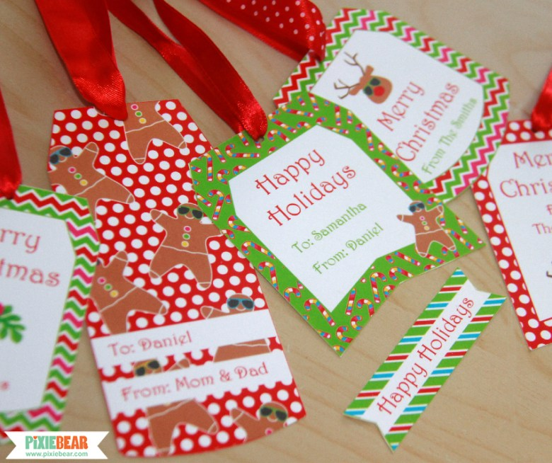 Summer Christmas Gift Tags by Pixiebear Party Printables