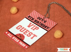 Basketball Party VIP Pass by Pixiebear Party Printables