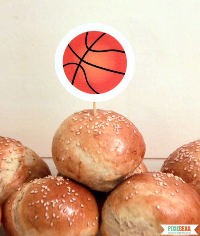 Basketball Party Toppers by Pixiebear Party Printables