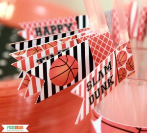 March Madness Basketball Party by Pixiebear Party Printables