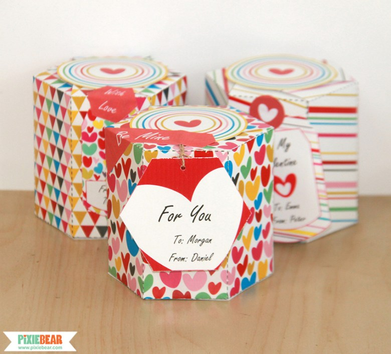 Valentine's Day Favor Box by Pixiebear Party Printables