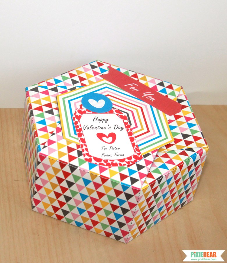 Personalized Valentine's Day Gift Box by Pixiebear Party Printables