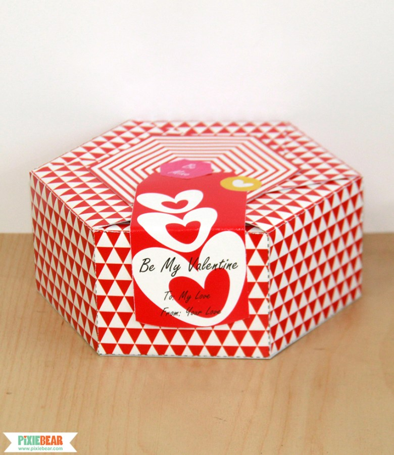 DIY Valentines Day Box by Pixiebear Party Printables
