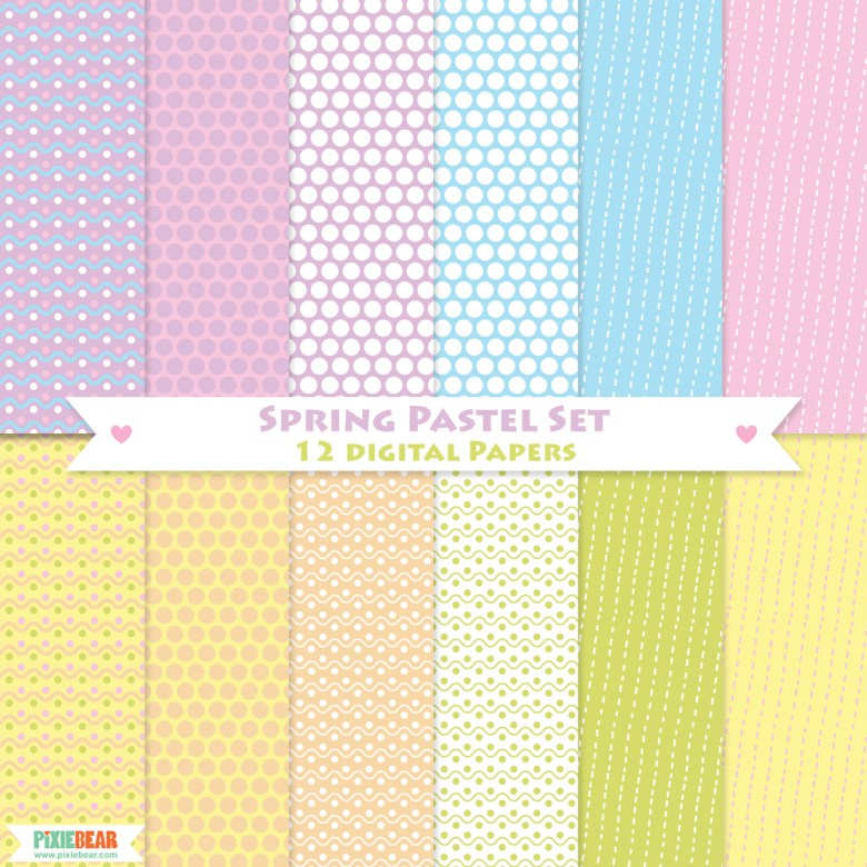 Easter Digital Papers by Pixiebear Party Printables