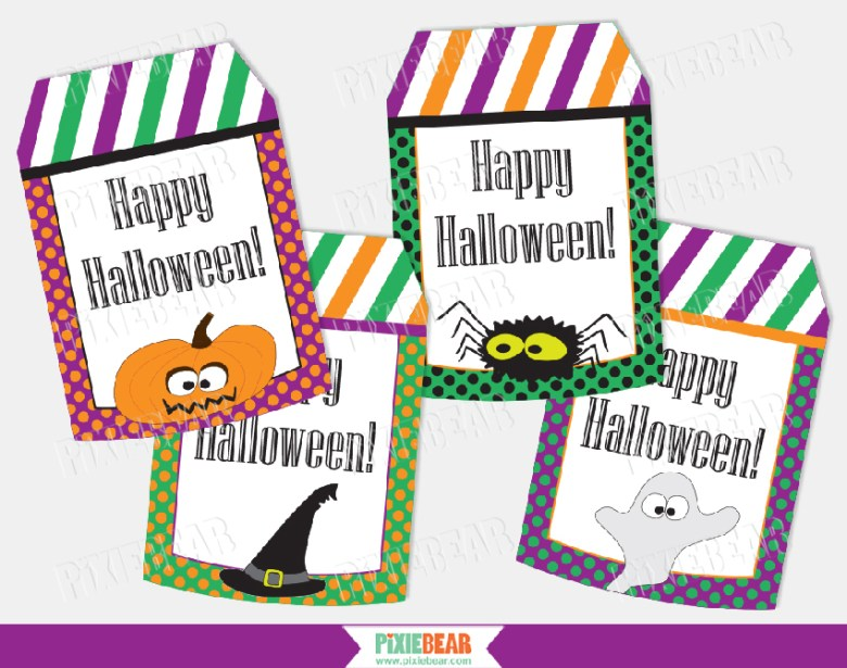 Halloween Treat Tags by Pixiebear Party Printables