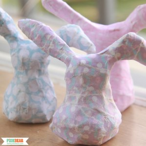 How to Make a Paper Mache Easter Bunny by Pixiebear Party Printables