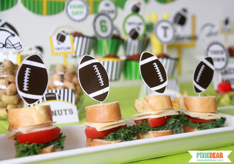 Super Bowl Party Food by Pixiebear Party Printbales