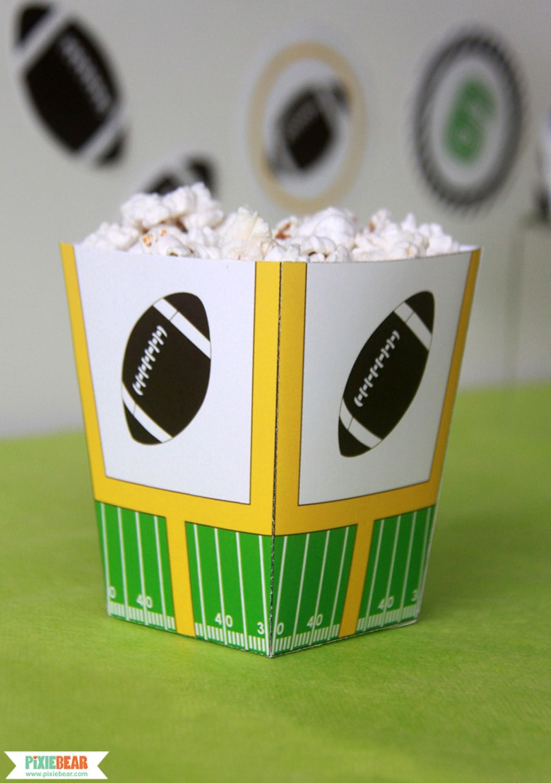Super Bowl Party Decorations by Pixiebear Party Printbales