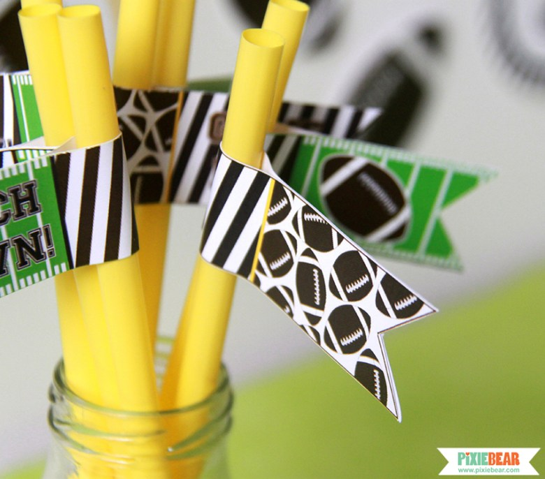 Super Bowl Party Decor Ideas by Pixiebear Party Printbales
