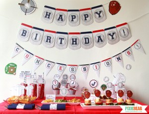 Baseball Party Decorations by Pixiebear.com