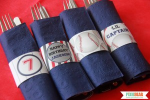 Baseball Party Printables by Pixiebear.com