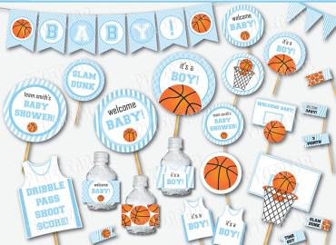Basketball Baby Shower by Pixiebear.com (1)