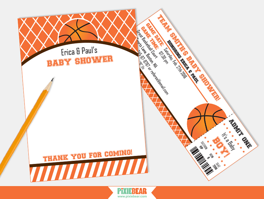 Basketball Baby Shower Printables · Basketball Party Ideas
