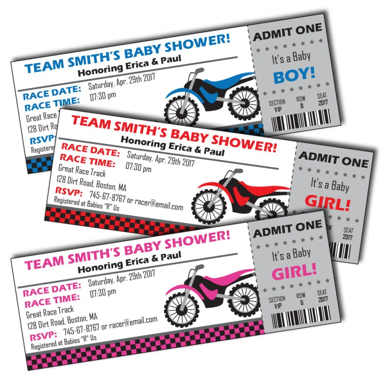 Motorcycle Baby Shower Invitations by Pixiebear