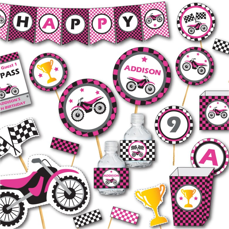 Pink Motorcycle Party by Pixiebear