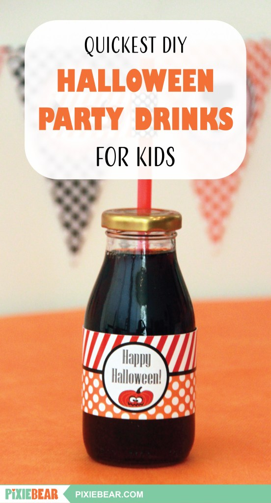 Easy DIY Halloween Drinks for Kids by Pixiebear