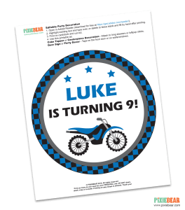 Dirt Bike Birthday Party Free Printable by Pixiebear
