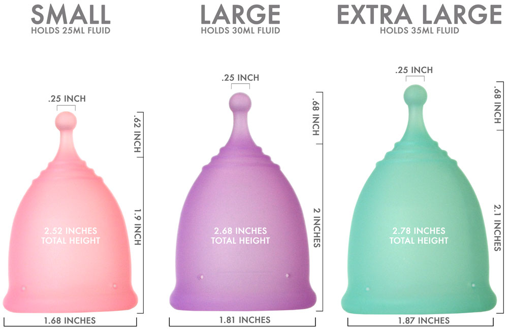 Pixie Cup Size-Chart