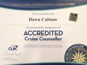 Cruise Line International ACCREDITED Cruise Counsellor