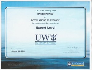 University of WOW Royal Caribbean Specialist