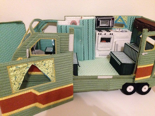 Plastic Canvas Doll Camper