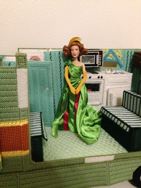 Lady Tremaine in doll camper.