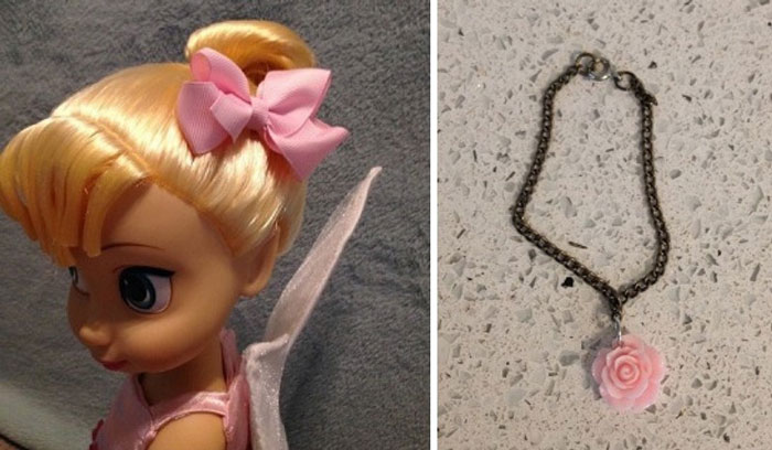 Hairbow and necklace for Tinkerbell.
