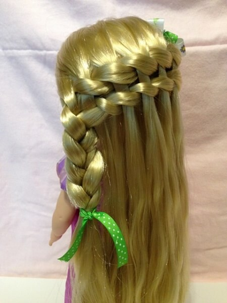 Rapunzel With Waterfall Braid.